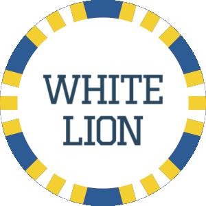 logo white lion