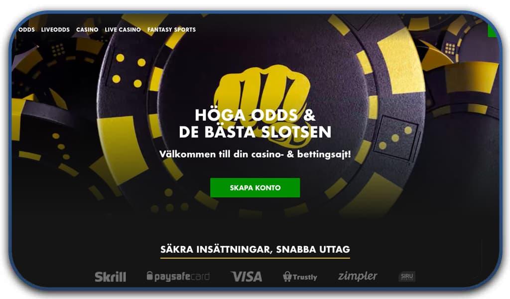 bethard casino online interface homepage