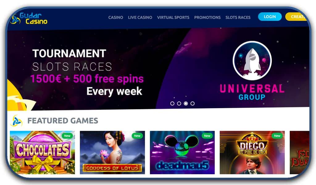 gudar casino special screenshot interface