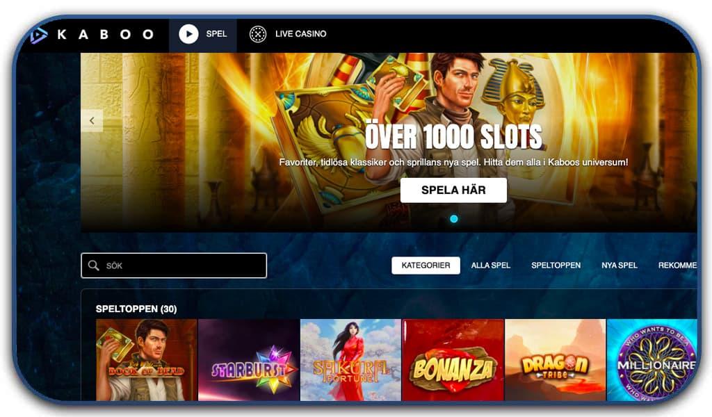 kaboo casino screenshot