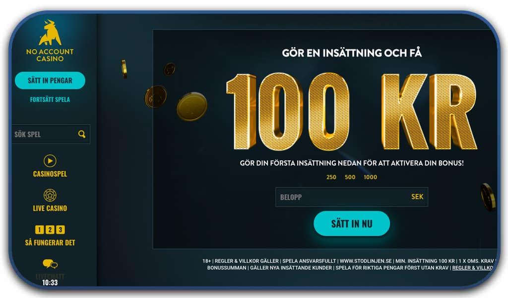 no account casino online interface