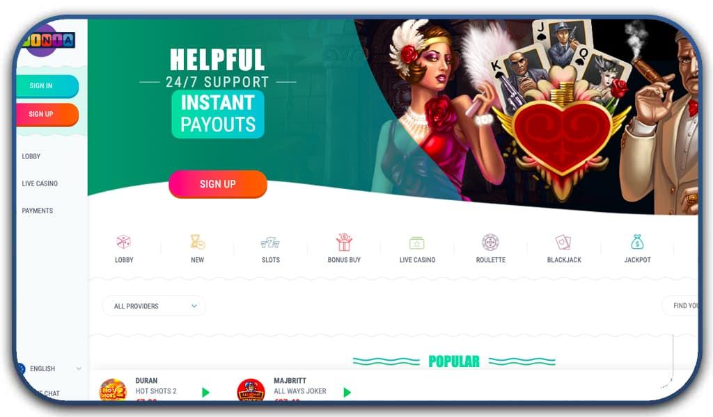 spinia interface screenshot