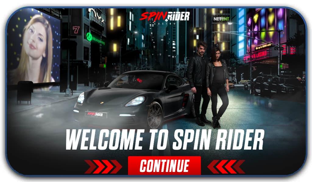 spin rider casino interface screenshot