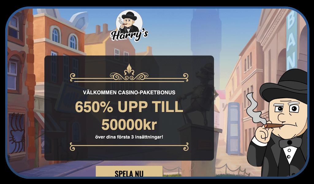 harrys casino interface screenshot