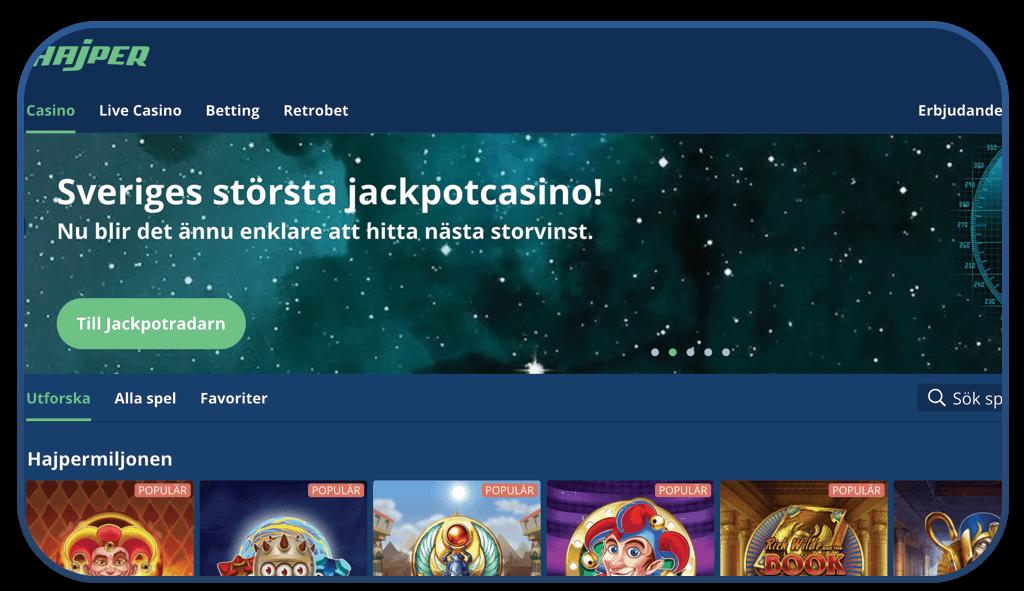 hajper casino online screenshot